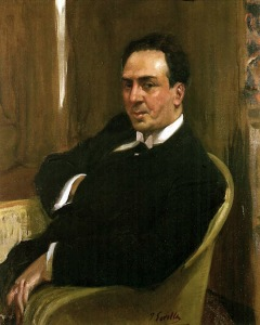 Retrato de A. Machado por Joaquín Sorolla, 1917